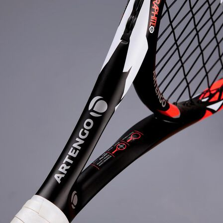 ARTENGO - Tr900 26 kids' tennis racket - black/orange