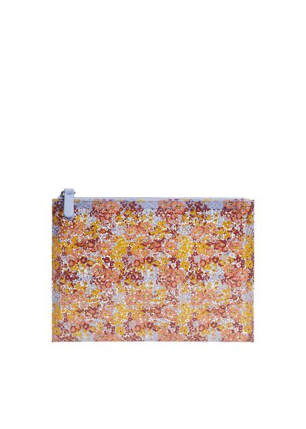 Mango - lt-pastel purple Glitter vinyl cosmetic bag