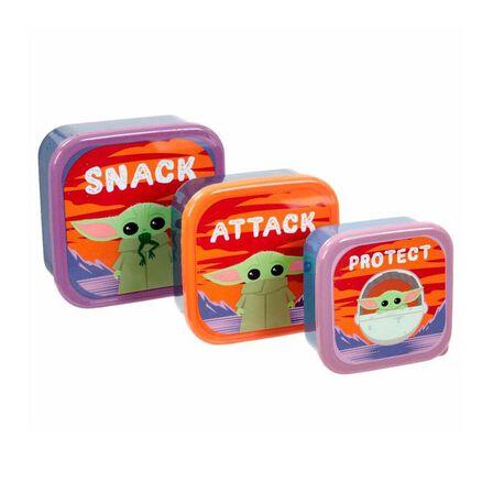 FUNKO TOYS - Funko Star Wars Mandalorian The Child Plastic Storage Set Snack, Attack, Protect