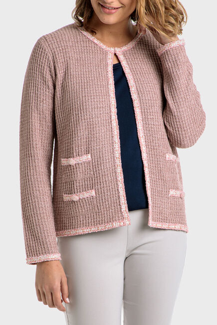 Punt Roma - Pink jacket with pockets