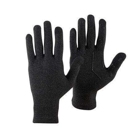 FORCLAZ - XS/S  Unisex Touchscreen Compatible Mountain Trekking Liner Gloves Trek 500, Black