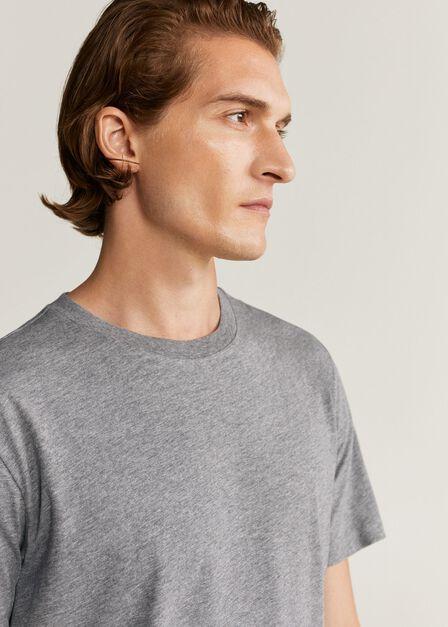 Mango - Grey Sustainable Cotton T-Shirt