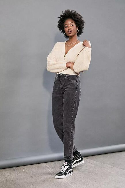Urban Outfitters - Black BDG Recycled Cotton Mom Jeans, Women