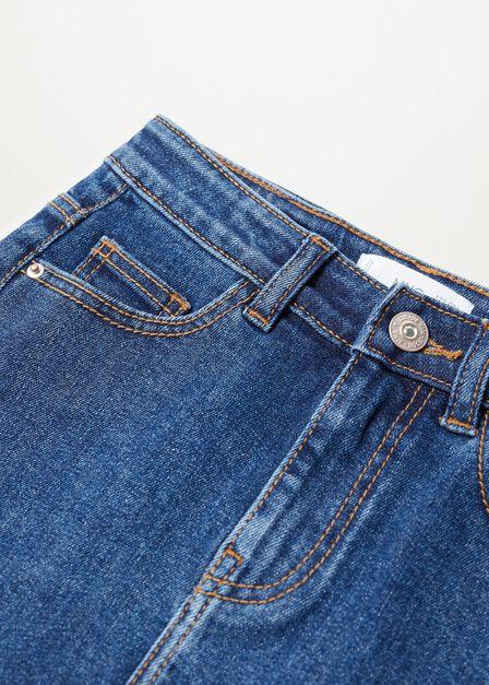Mango - open blue Dark denim skirt
