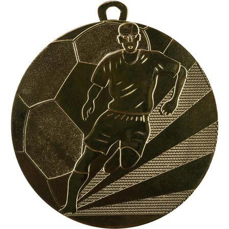 BIEMANS - Unique Size  Football Medal 50mm - Gold, Default