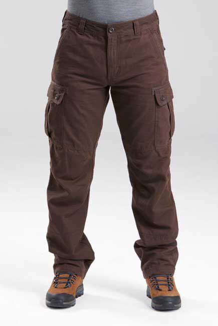QUECHUA - W32 L33  Men's Travel trekking trousers - TRAVEL 100 WARM, Deep Shale