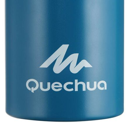 QUECHUA - 500 aluminium 1 l hiking water bottle with quick opening top - blue, Unique Size