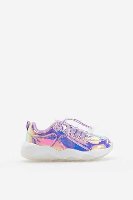 Reserved - Violet Holographic Shoes , Kids Girl
