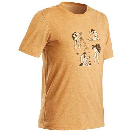 QUECHUA - XL Techtil 100 Short-Sleeved Hiking T-Shirt - Mottled - Hazelnut
