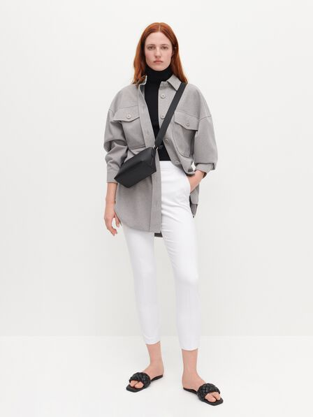 Reserved - Elegant high waisted trousers - White