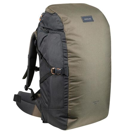 FORCLAZ - Unique Size  Trekking Travel Rucksack 60 Litres | TRAVEL 100, Dark Ivy Green