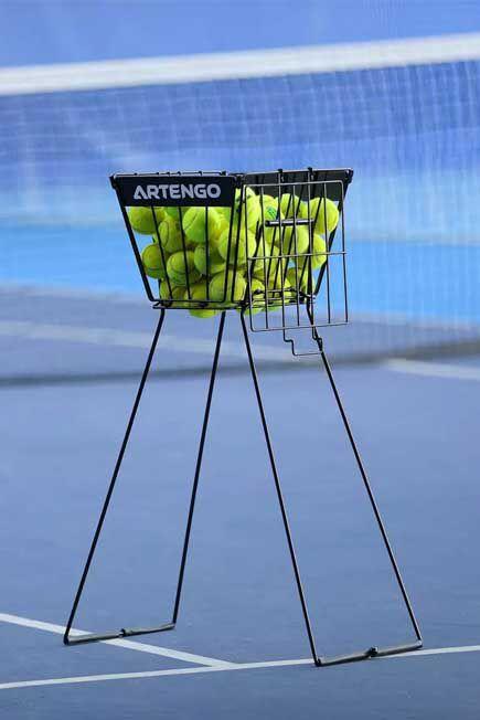 ARTENGO - Tennis ball basket - black, Unique Size