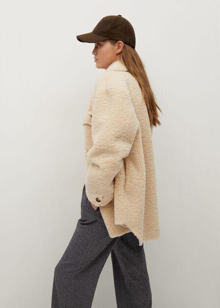 Mango - Lt pastel grey Pleat detail trousers