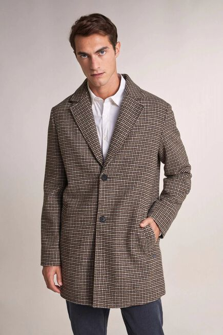 Salsa Jeans - Brown Checked duffle coat