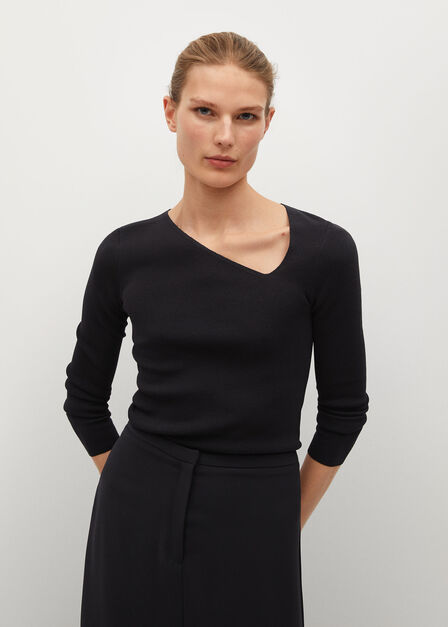 Mango - Black Slit Long Skirt