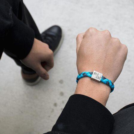 ELECTRIC FAMILY - Electric Family Steve Aoki Light Blue/Grey Bracelet