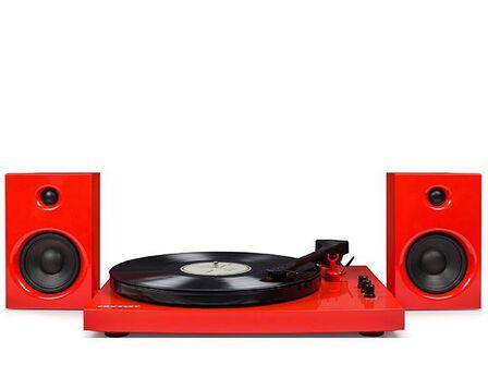 CROSLEY - Crosley T100 Turntable System Red With Speakers [Pair]