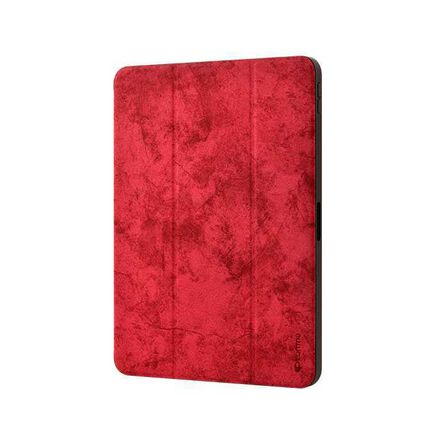 DEVIA - Devia Leather Case Red for iPad Pro 12.9-inch 3rd Gen with Pencil Slot