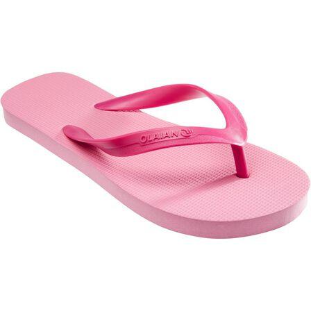 OLAIAN - EU 37-38  Girls' Flip-Flops 100, Begonia Pink
