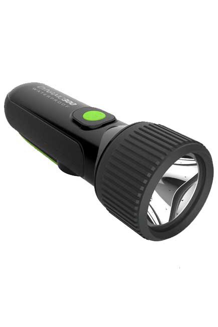FORCLAZ - Unique Size  Self-powered waterproof torch - DYNAMO 300 WP black - 35 lumens, Black