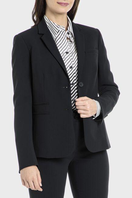 Punt Roma - Black crepe blazer