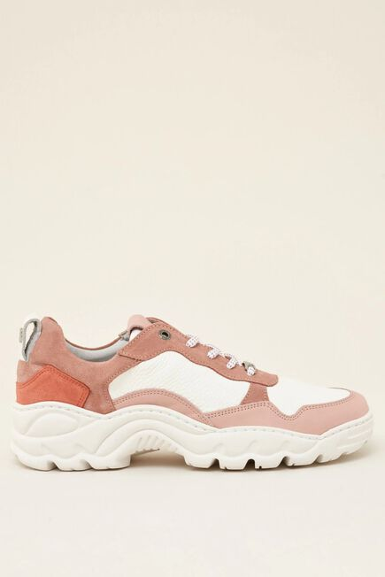 Salsa Jeans - Pink Leather sports trainers