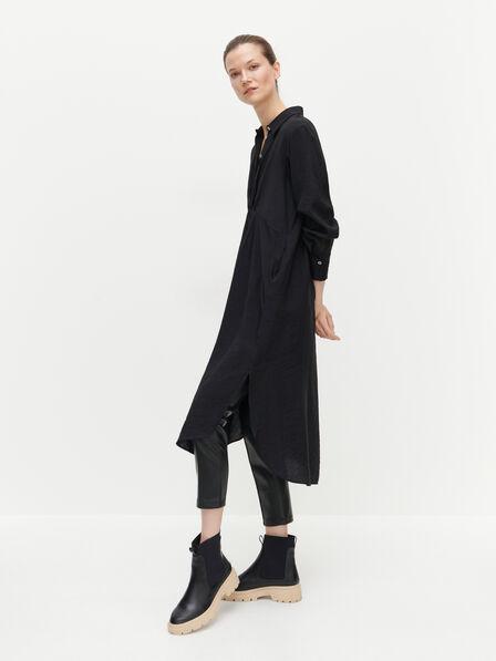 Reserved - EcoVero rich shirt dress - Black