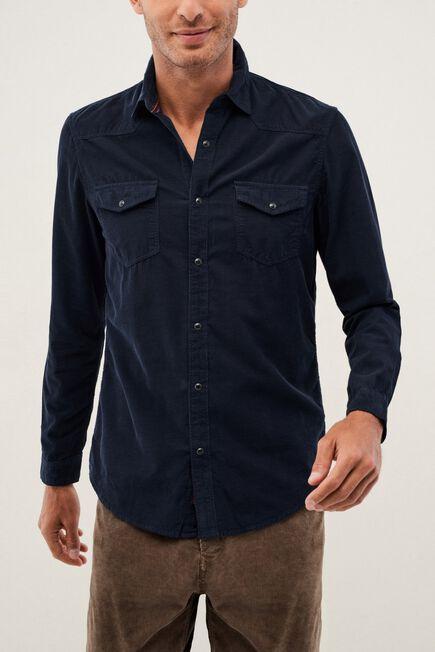 Salsa Jeans - Blue Corduroy Slim Fit Shirt