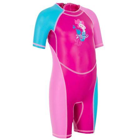 NABAIJI - 12M  Kloupi Baby's Printed Shorty Swimsuit - Pink Blue, Fuchsia