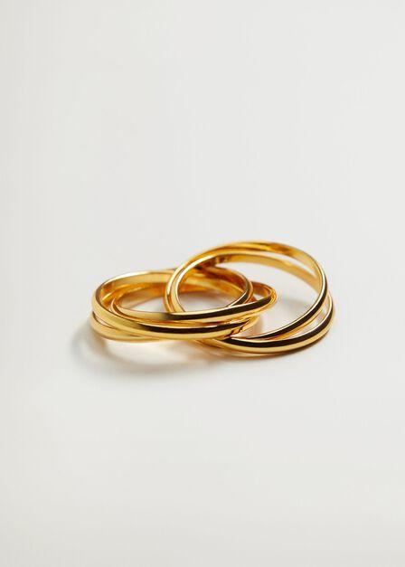 Mango - Gold Crossover Ring