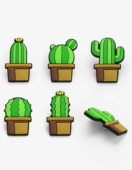 MUSTARD - Mustard Cactus PVC Push Pins [Pack of 5]