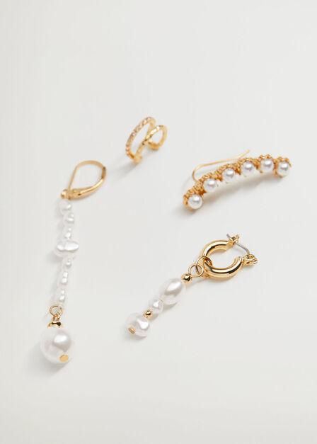 Mango - Gold Mixed earring set