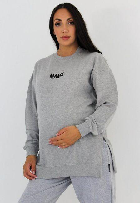Missguided - Grey Maternity Mama Sweatshirt