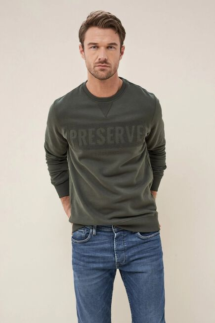 Salsa Jeans - Gray Sweater with آ´PRESERVEآ´ print