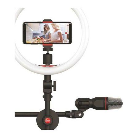 ALFOTO - Alfoto Af-99 Video Kit Set Ring Fill Light/3.5 mm 4-Polemini Plug Condenser Microphone/Stand/Light Box