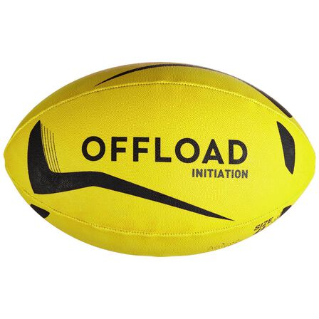 OFFLOAD - 3  Size 3 Rugby Ball Initiation - Yellow, Fluo Lime Yellow