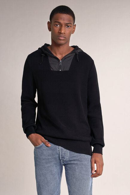 Salsa Jeans - Black Polo neck sweater with zip