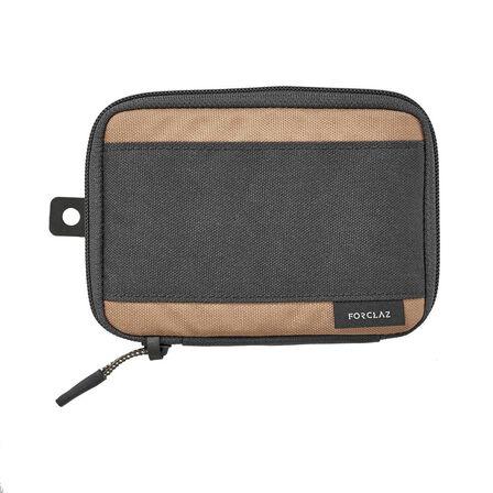 FORCLAZ - Unique Size  Travel Trekking Organiser Wallet TRAVEL S Grey, Brown