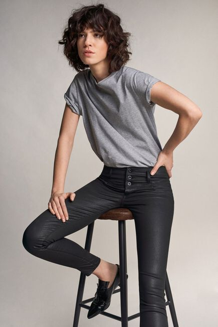 Salsa Jeans - Black Mystery push up skinny jeans in dark coating