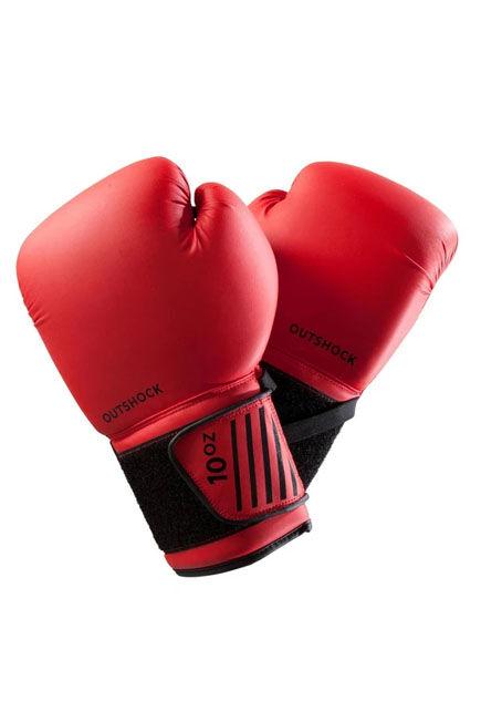 OUTSHOCK - 40Z 100 Beginner Boxing Gloves - Red
