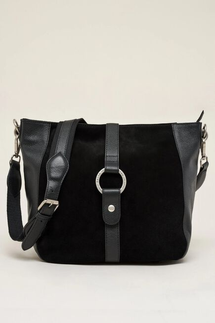 Salsa Jeans - Black Leather bag with panel