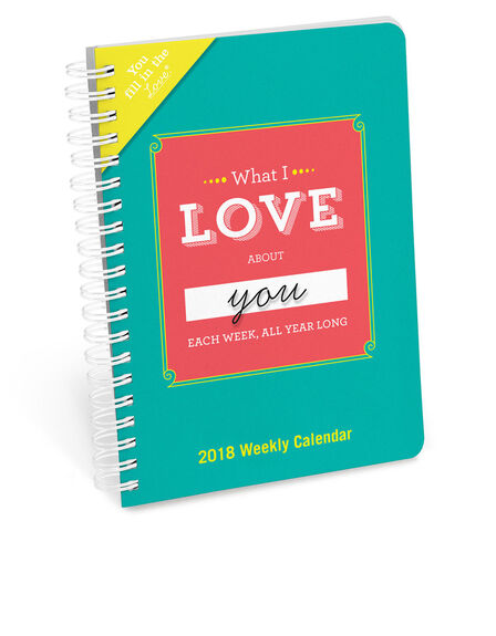 KNOCK KNOCK - Knock Knock What I Love About You Fill In The Love Weekly Calendar