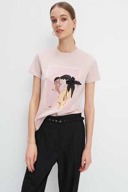Mohito -  Printed T-Shirt - Pink