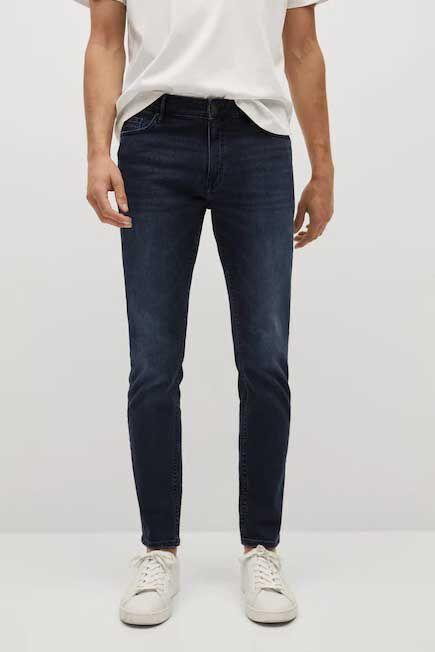 Mango - open blue Skinny dark Jude jeans, Men
