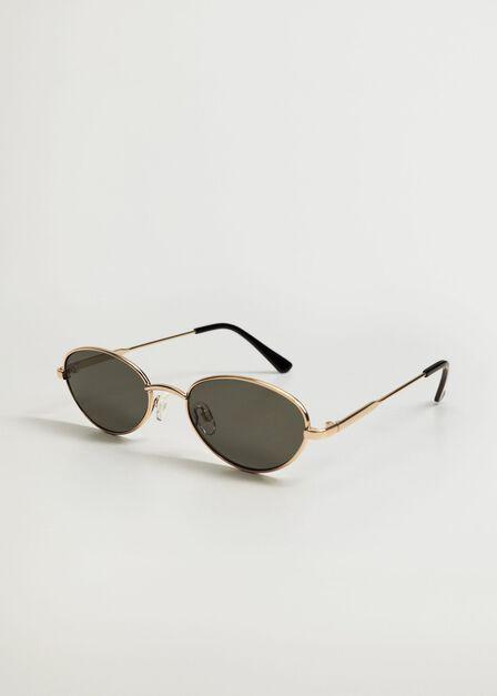 Mango - gold Metallic frame sunglasses, Women