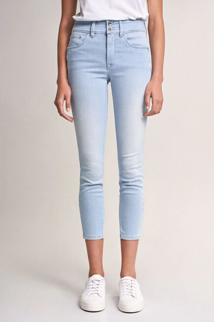 Salsa Jeans - Blue Push In Secret cropped jeans with wave detail