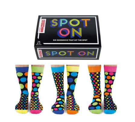 UNITED ODDSOCKS - United Oddsocks Spot On Men's Socks Size 6-11 UK [Set of 3 Pairs]
