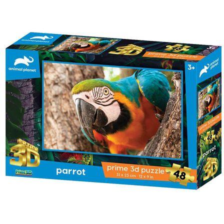 PRIME 3D - Prime 3D Animal Planet Parrot 48 PCs 3D Jigsaw Puzzle