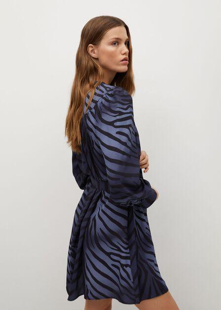 Mango - Medium blue Belt shirt dress