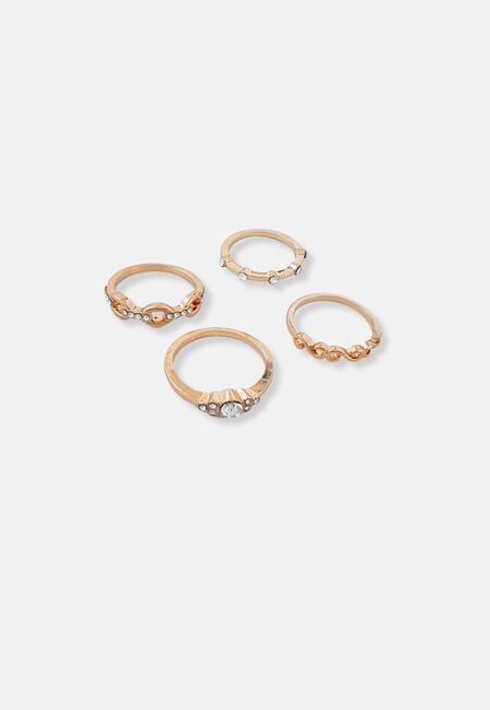 Missguided - Fine Chain Ring Pack